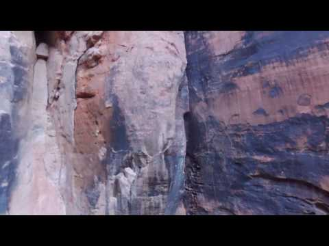 Rappelling Johnson Arch Canyon