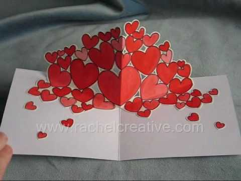 Trub Hearts Valentine Pop Up Card YouTube – Valentines Pop Up Card