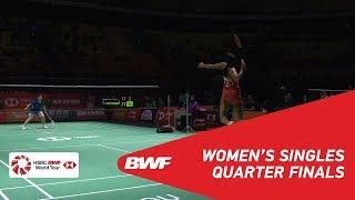 QF | WS | PUSARLA V. Sindhu (IND) [3] vs HE Bingjiao (CHN) [8] | BWF 2018