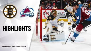 Bruins @ Avalanche 10/10/19 Highlights