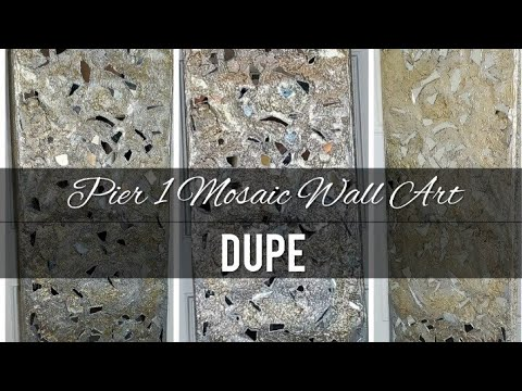 Pier 1 Inspired Mosiac Mirror  Wall Art