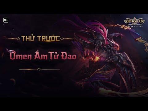 [Kinas] Trải Nghiệm Trước Trang Phục Omen Ám Tử Đao Hiệu Ứng Siêu Chất và Trận Solo Kinh Điênr