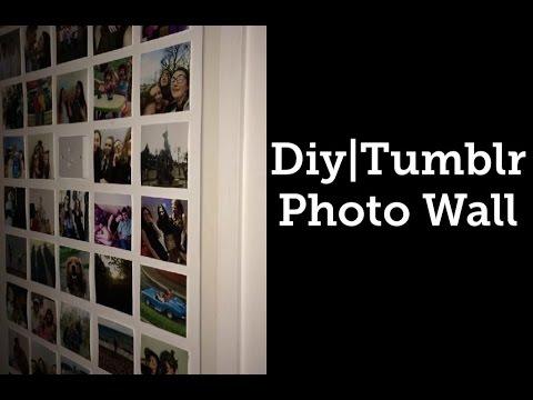 Diy Tumblr Photo Wall Youtube