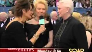 SUSAN FLANNERY FUNNY EMMY INTERVIEWS Erika Slezak OLTL Viki B&B Bold Beautiful Stephanie 1-23-14