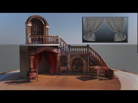 Create Realistic Curtain In Maya