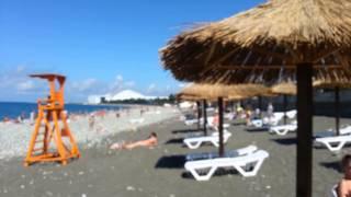Пляж отеля Бархатные сезоны - Чистые пруды Сочи Адлер июль 2014