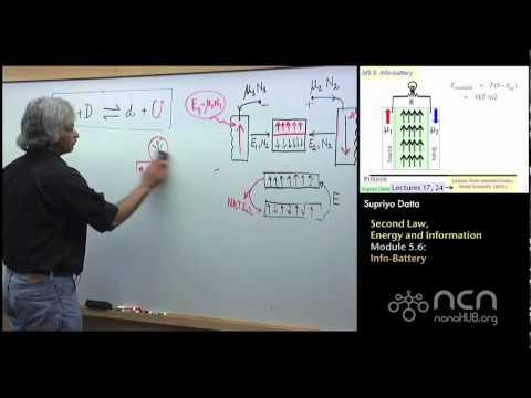 nanoHUB-U Fundamentals of Nanoelectronics II: M5.6 Second Law, Energy, Information - Info-Battery