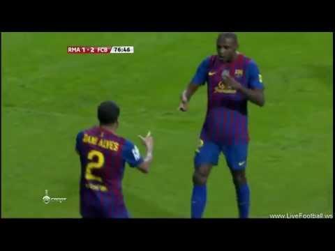 Real Madrid Vs FC Barcelona 1-2 Éric Abidal Goal (18.01.12) [Ai Se Eu Te Pego]