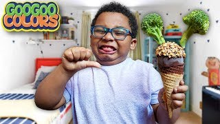 Do You Like Broccoli Ice Cream Song? (Nursery Rhymes with Goo Goo Colors!)
