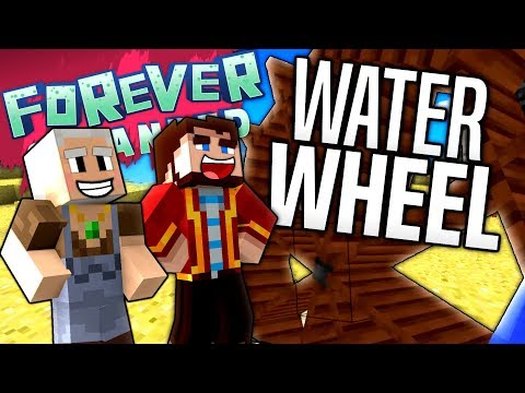 Minecraft - WATER WHEEL - Forever Stranded #15
