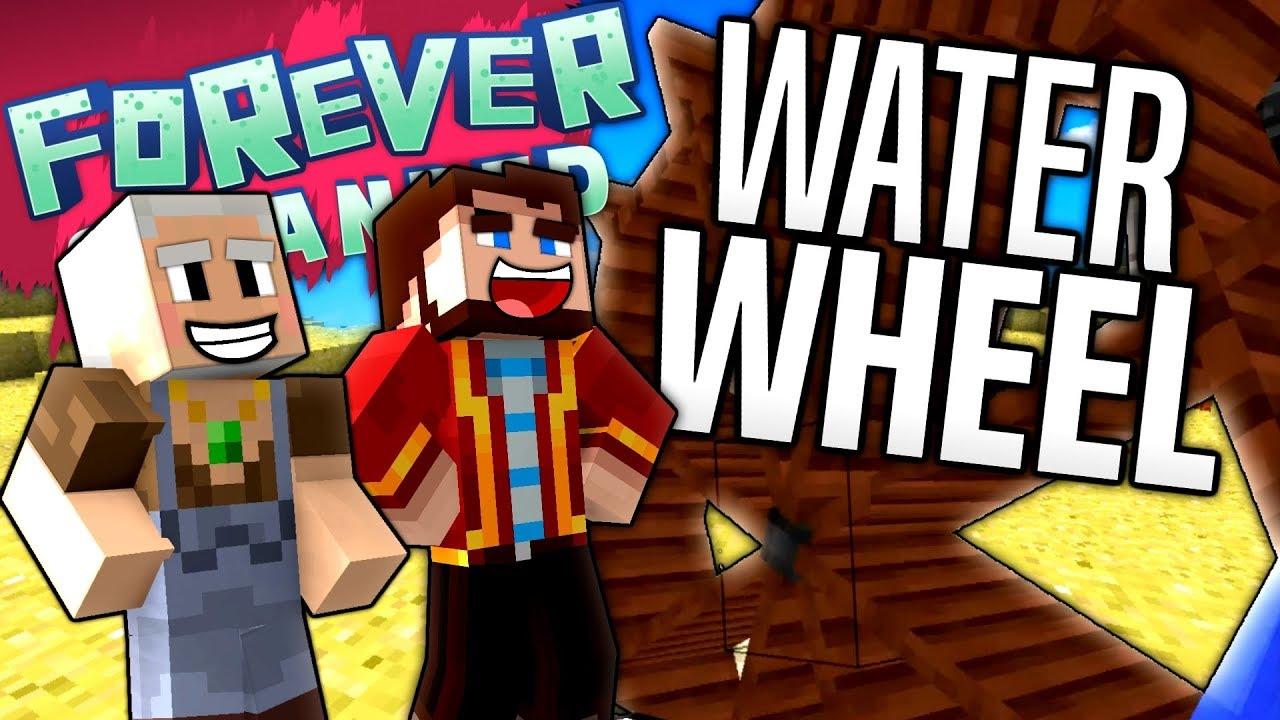minecraft water wheel forever