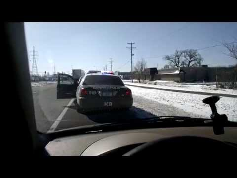 """Civilian pulls over K-9 Police Officer for speeding 