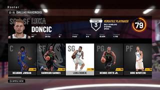 NBA 2K19 - Dallas Mavericks Roster - All Players Ratings Positions Ages Colleges & Stats