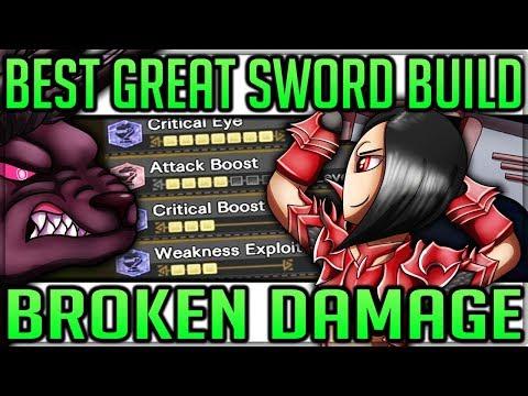 Ultimate New Great Sword Build - Broken & Beautiful - Monster Hunter World! #bestgreatswordbuild