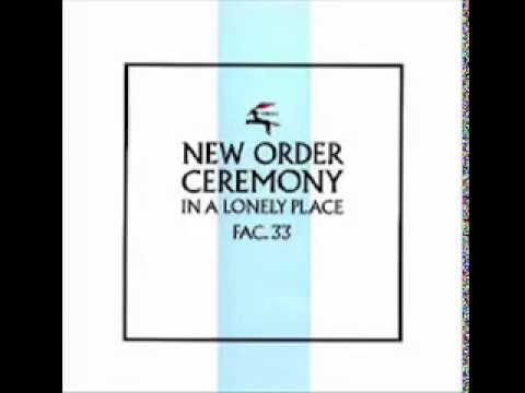 New order Ceremony In a lonely place 12'' single 1981