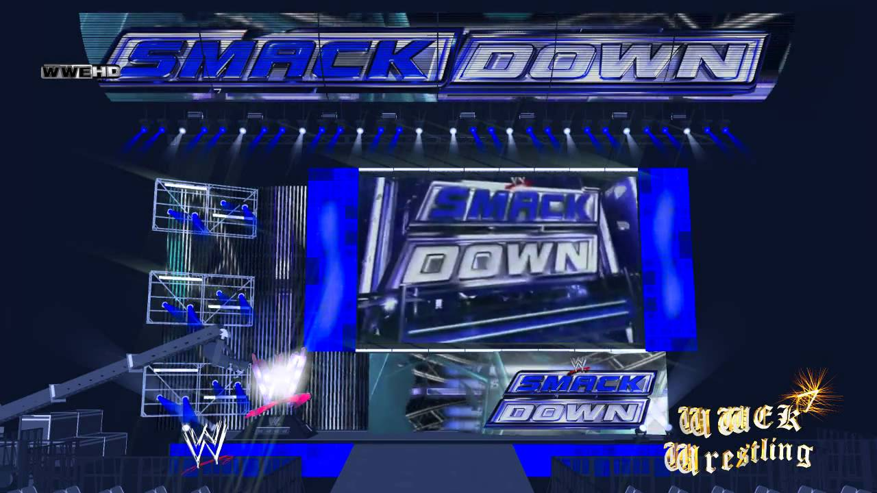 wwe smackdown stage animation 720p youtube
