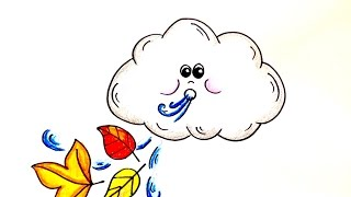 Drawing Lesson: How to Draw a Windy Day Cloud