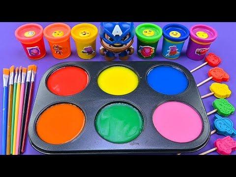 롤리팝 페파 돼지 playdoh / 롤리팝 색상을 물 색상으로 변환