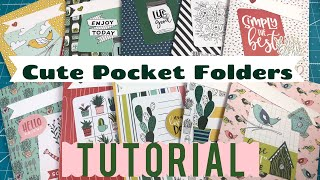 Cute Pocket Folders | Back to School Idea | Use Your Paper!