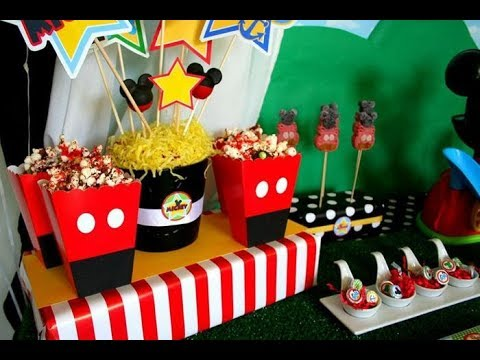 30 ideas para fiesta de Mickey Mouse / Mickey Mouse Party Ideas - Ronycreativa manualidades