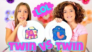 PANCAKE ART CHALLENGE - TWIN VS. TWIN!