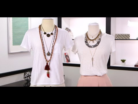 How to Layer Necklaces | Jewelry Tips | Fashion How To