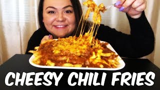 CHILI CHEESE FRIES MUKBANG EATING SHOW