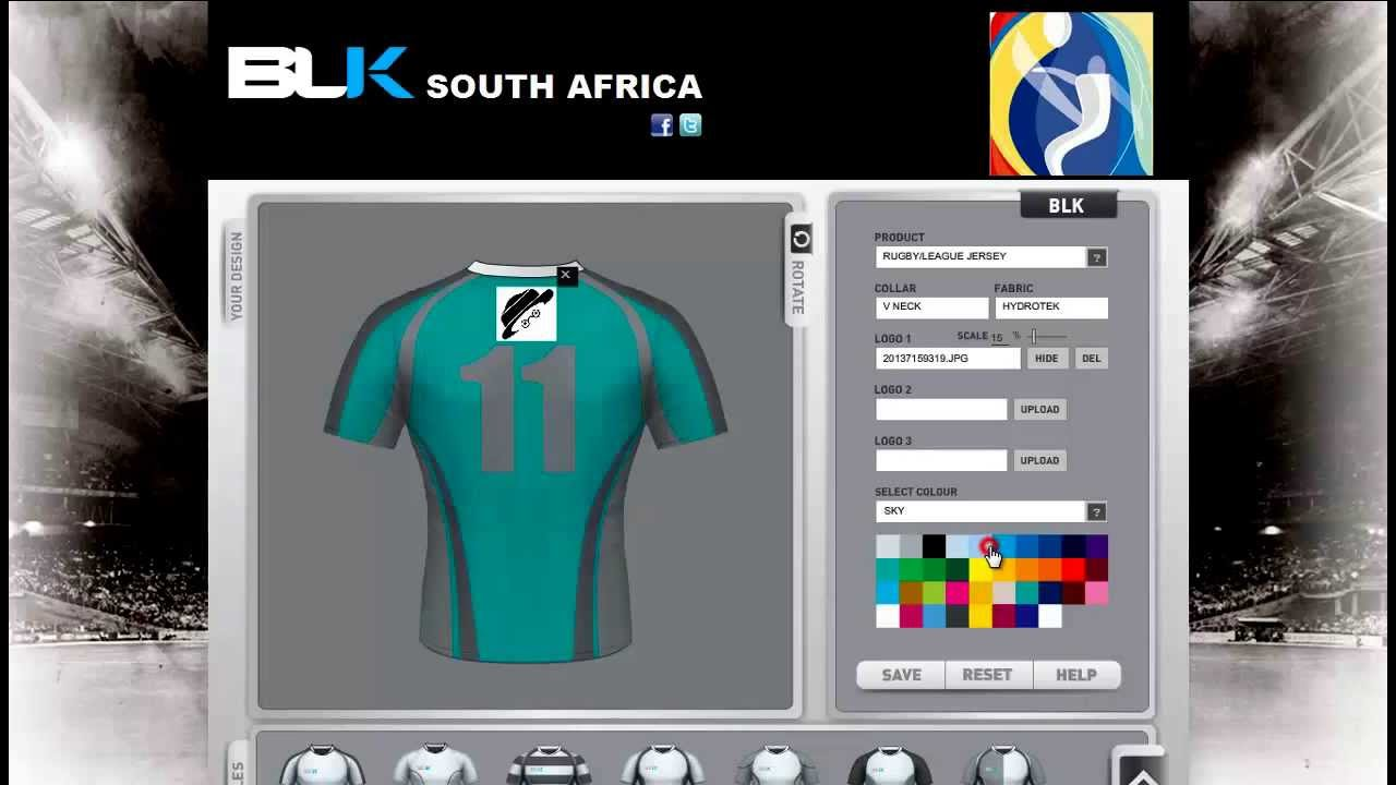 Rugby shirt design your own