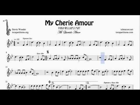 My Cherie Amour Partitura De Saxofn Alto Para Williams Youtube