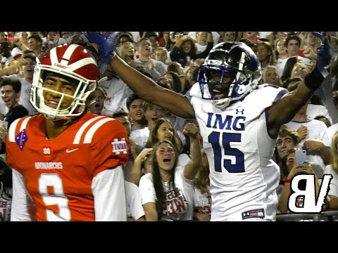 IMG ACADEMY VS MATER DEI Game Of The YEAR Goes To FINAL SECONDS! High School Football POWERHOUSES