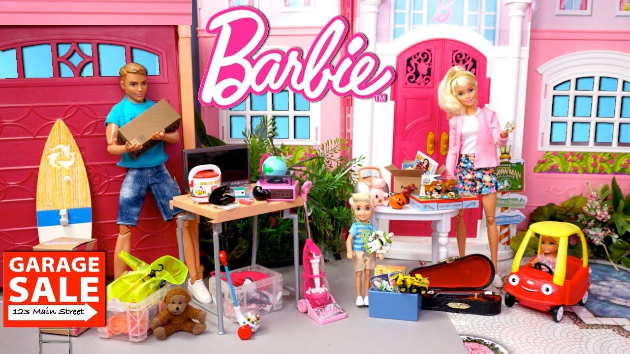 Bebes de Barbie Aventuras de Familia - Tienen un Garage Sale!