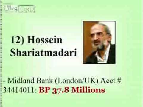 Iranian Mullahs and Leaders' foreign bank accounts unveiled - Auslandskonten Vermögen der Mullahs