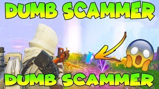 Dumb Scammer Does *NEW SCAM* (Scammer Gets Scammed) Fortnite Save The World