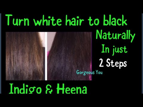 how to make white hair black naturally permanently