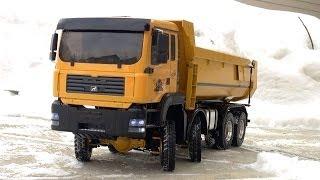RC ADVENTURES - Trucking Practice - Remote Locking Diffs - 1/14 8x8 Armageddon Hydraulic Dump Truck