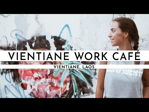 GREAT CAFÉ TO WORK FROM & VIENTIANE EXPLORING | Laos Visa Run #3 I TRAVEL VLOG #32