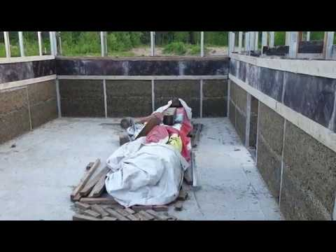Дом из монолитного арболита своими руками видео