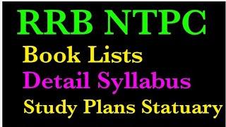 #RRBNTPCSyllabus   RRB NTPC Syllabus Books List,exam staturgy,  Railway NTPC Syllabus 2019