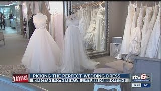 Many wedding dress designs accommodate brides with baby bumps