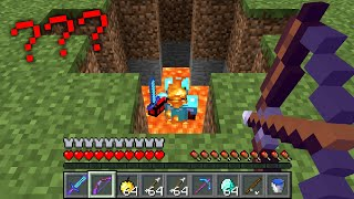Minecraft UHC but ARROWS drill DEADLY HOLES...?