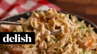 Greek Yogurt Whole Grain Chicken Alfredo | Delish + No Yolks