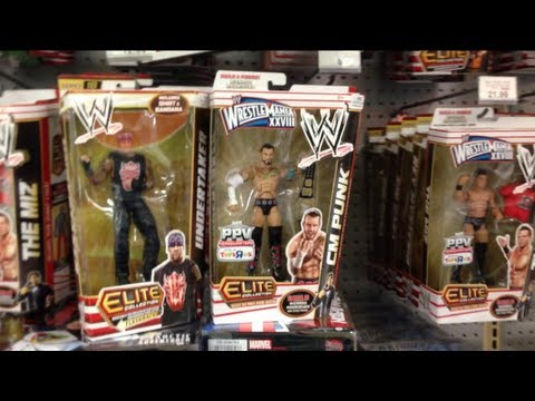 "WWE ACTION INSIDER: Toysrus store wrestling figure aisle accessories found review ""grims toy show"""