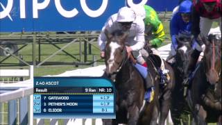 Gatewood wins the Carey Group Buckhounds Stakes(Gatewood Owner: George Strawbridge & O T I Racing Trainer: John Gosden Jockey: Frankie Dettori., 2014-05-31T08:19:20.000Z)