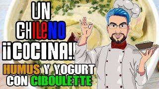 Un Chileno Cocina : Snacks Saludables, Humus Y Yogurt con Ciboulette