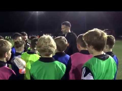 FLY ON THE WALL DOCUMENTARY OF RYAN GIGGS VISIT TO THE RISCA UNITED ACADEMY FOR THE FAW COMMUNITY AW