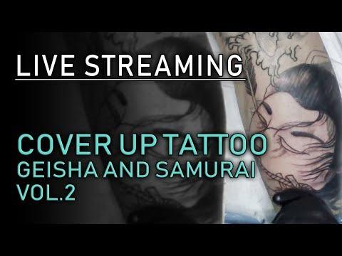 Cover up tatuaggio maori con Samurai e geisha Live Streaming Vol.2