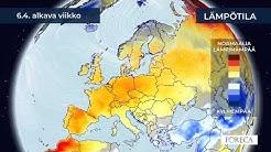 Kuukausiennuste lämpötiloista 31.3.2020