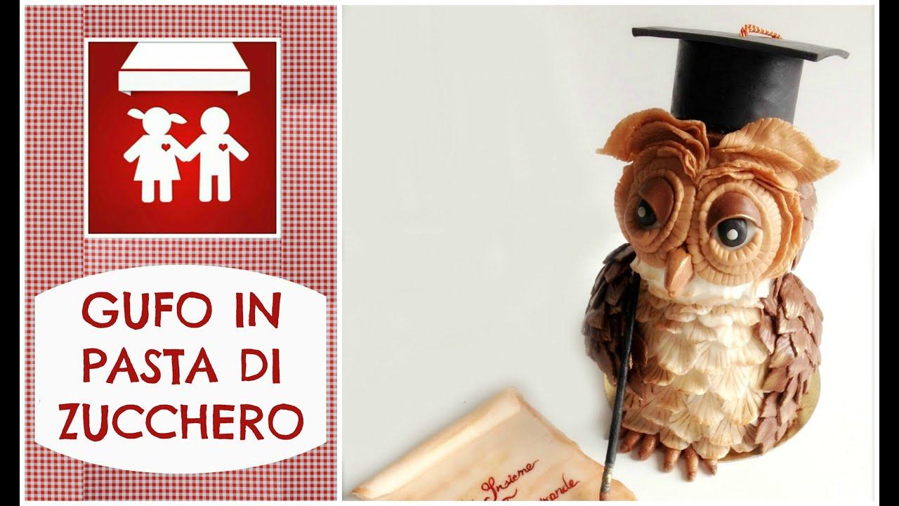 GUFO in PAsta di Zucchero  How to make a fondant Owl (Dolci decorazione)  2C+K 9bc7a454fa7c
