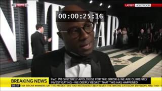 Best Picture director Barry Jenkins mentions Flat Earth to Sky News after Academy Awards ✅