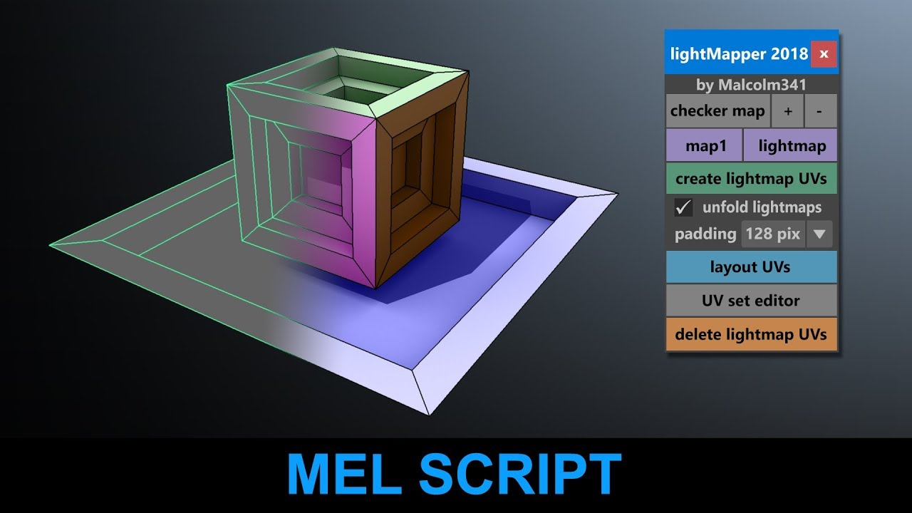New Script Automatically Creates Lightmap Friendly UVs in